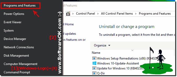 Uninstall installed programs on windows-10!