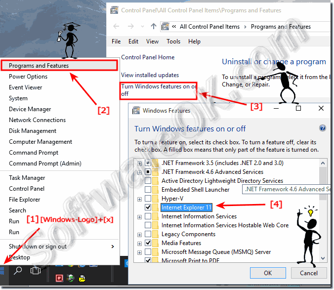 Where are other Windows 10 features, how to activate it?