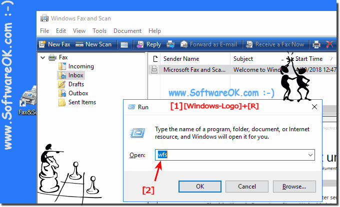 Help Windows 10 has no fax and scan function, where is it?