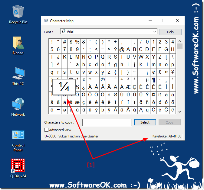 Windows 10 special-character key combination / shortcut!
