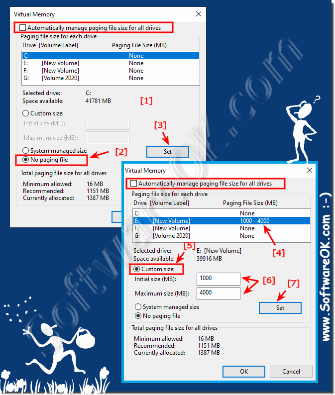 windows 10 out of virtual memory