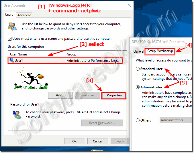 how to remove administrator from windows 10 computer