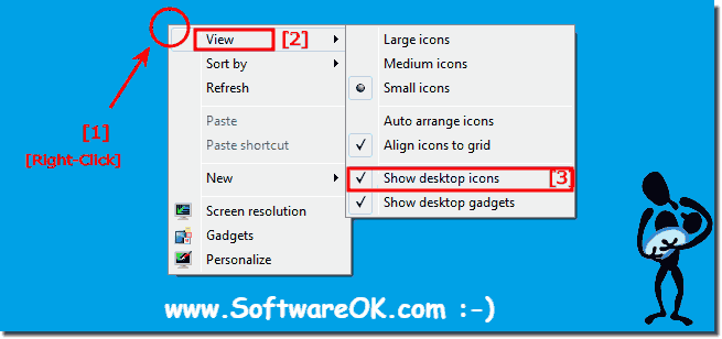Permanent Disable Windows Desktop Icons!