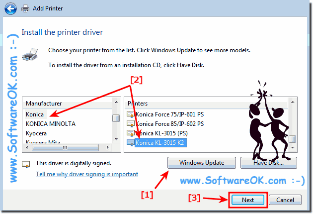 Using standard Printer driver on Windows!