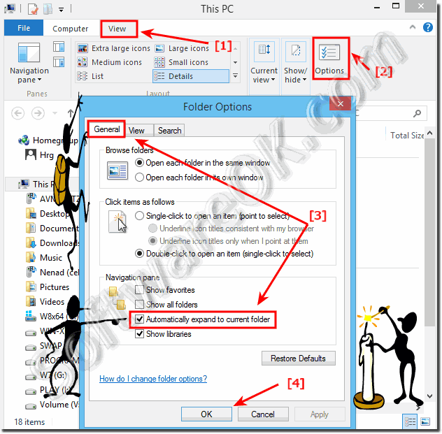 Disable Windows 8.1 auto expanding feature in ms-explorer!