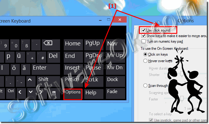 Disable Windows 8 key click sound in virtual onscreen keyboard turn-off