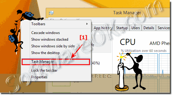 Find the Windows Task Manager in  Desktop Task-Bar!