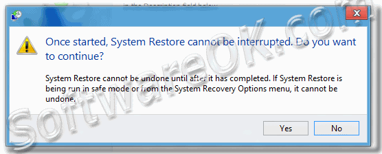 Windows-8 Alert: Once started System Restore cannot be interrupted