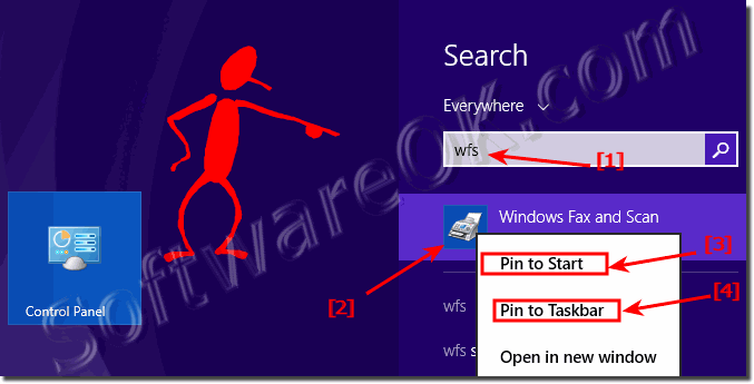 Desktop shortcut for windows 8 1 / 10 fax and scan or pin to