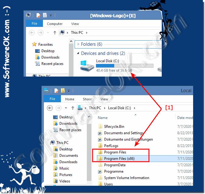 What is Program Files (x86) Folder in Windows 8 1 / 10 64-Bit (x64)?
