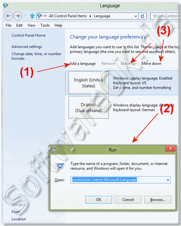How can i add or change languages in Windows-10 and Win 8 1?