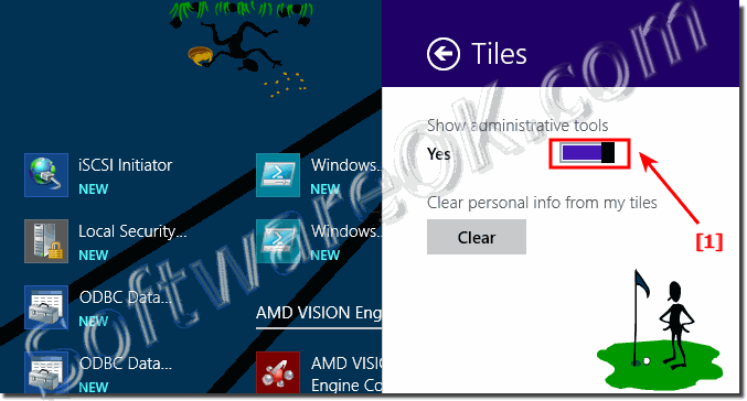 Show administrative tools in Windows 8.1 Start Tiles!