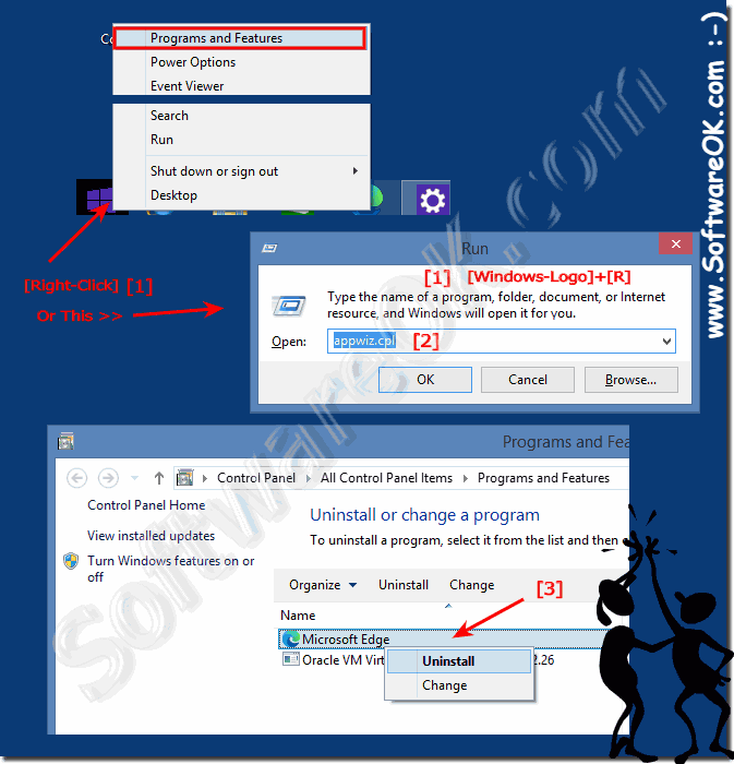 How to uninstall programs in Windows 8 / 10 and 8 1?