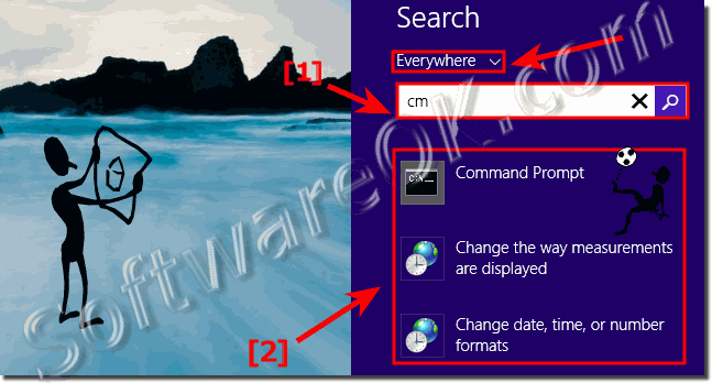 Use the Windows 8.1 Desktop Search to start programs and App or open documents!