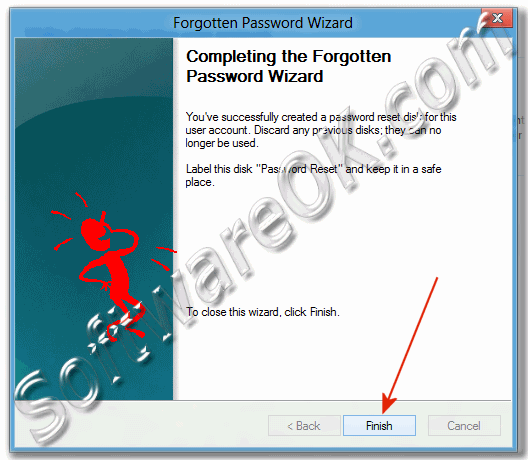 Win-8 Completing the Forgotten Password Wizard