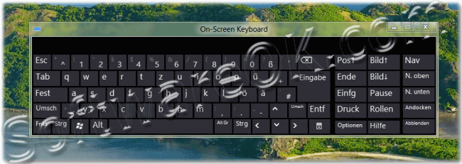 Windows-8 On Screen Keyboard