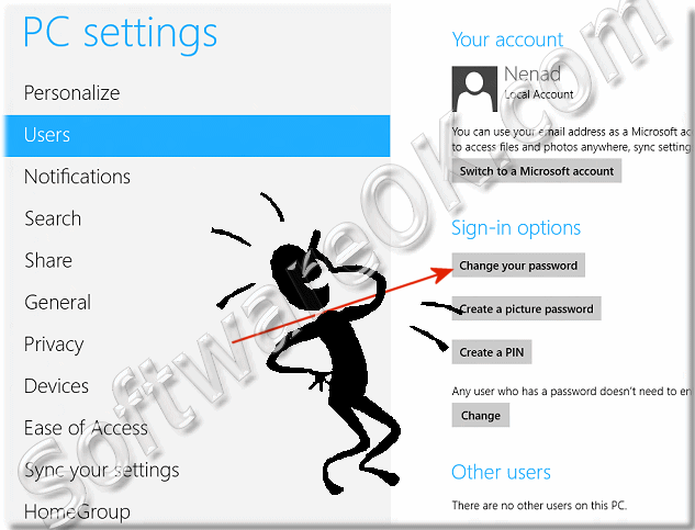 Windows-8 PC-settings Sing-in options