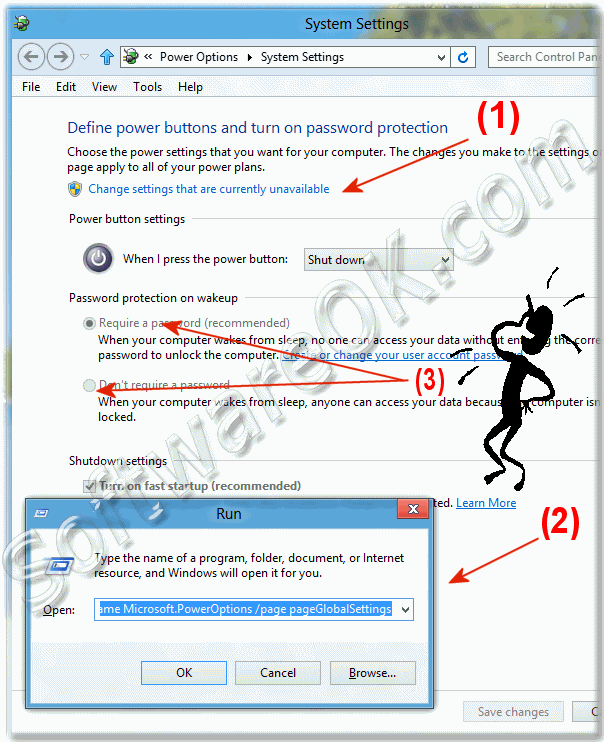 Windows-8 Password protection on wakeup!