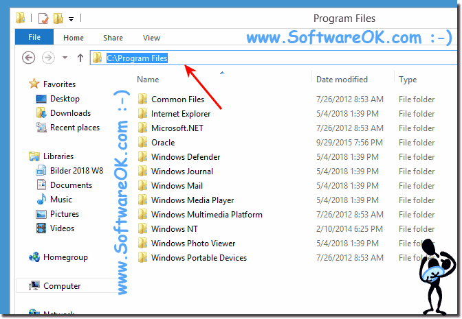 program files folder in Windows 8!