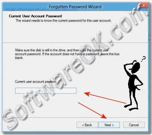 Type the current Windows-8 user account password