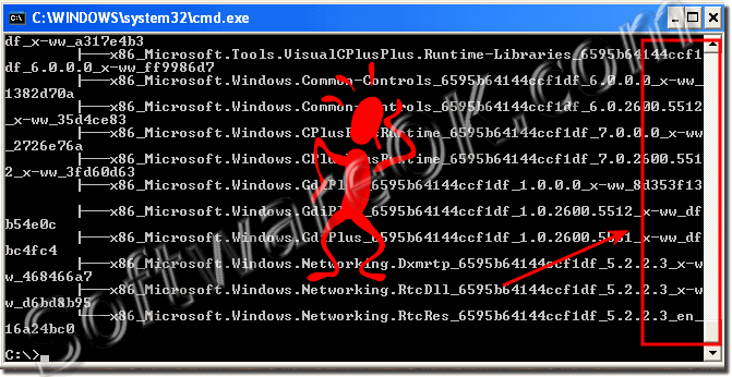 Windows command prompt CMD TEXT unreadable!