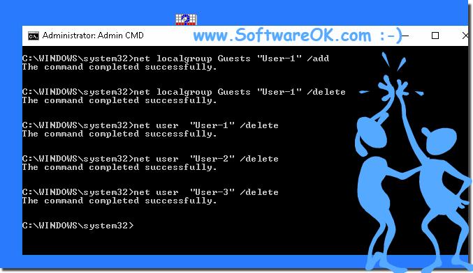 How do I quickly create user accounts via command line?