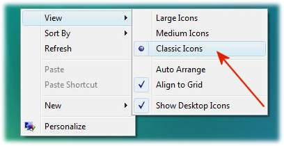 Desktop icons and symbols in Vista / Windows 10, 8.1, 7 Classic symbols