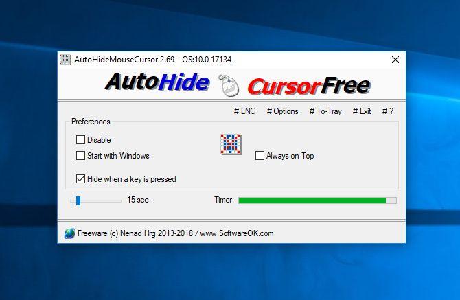 AutoHideMouseCursor 4.44 多國語言免安裝