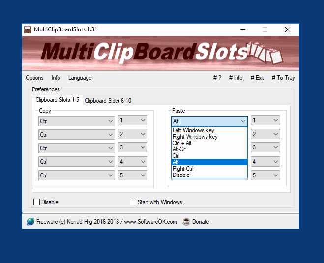 MultiClipBoardSlots