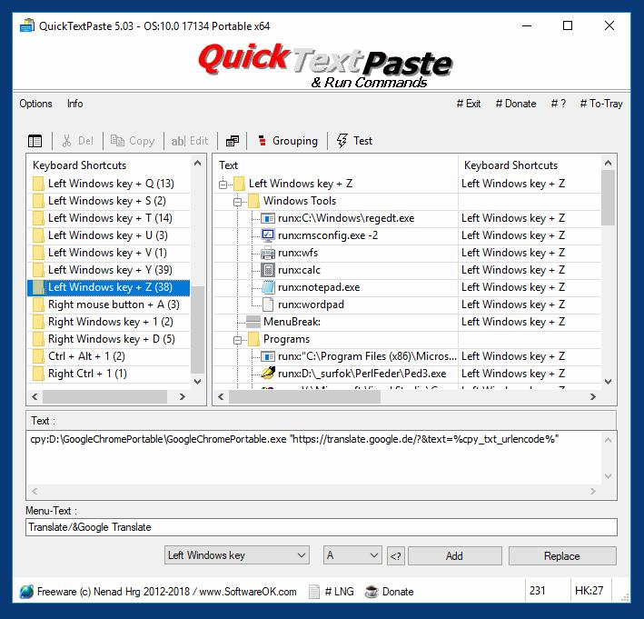 QuickTextPaste V7.44 多國語言免安裝