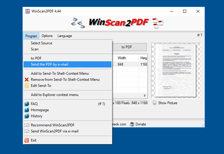 Easy Send the PDF directly to email!