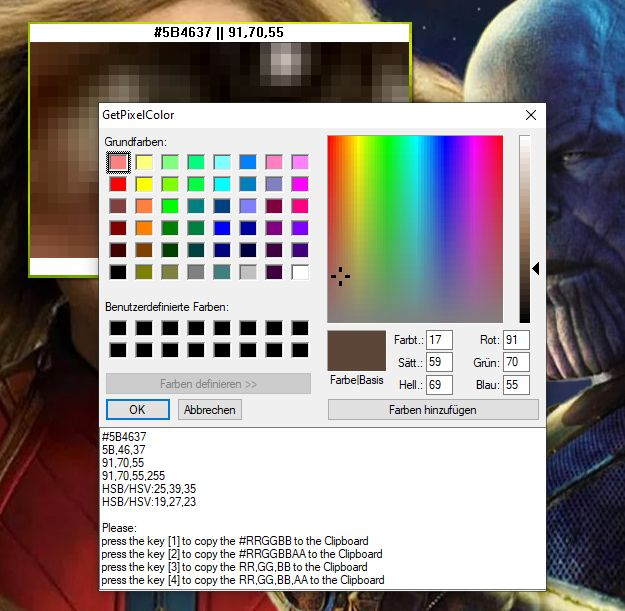 GetPixelColor 2 Edit the Pixel in Windows Color Spectrum