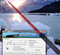 Virtual pointer stick on your Windows Desktop