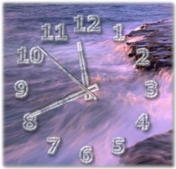 Desktop clock with alpha transparency